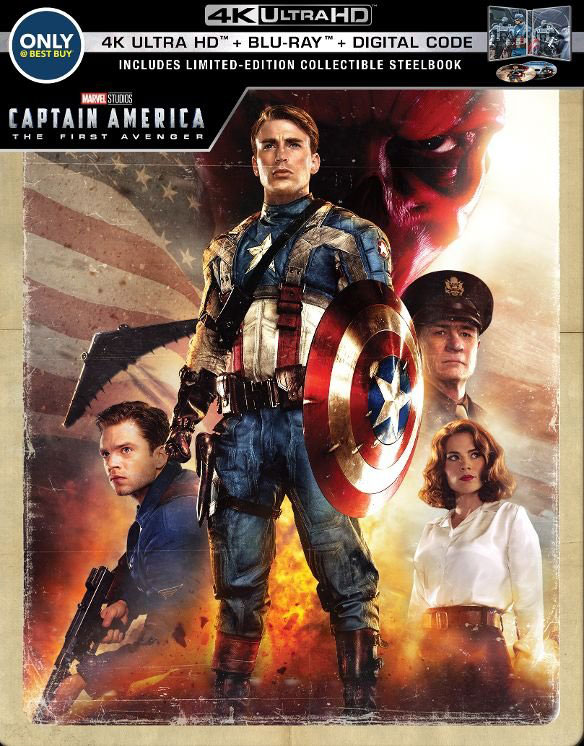 Captain America: The First Avenger (Ultra HD 4K Blu-ray, Steelbook)